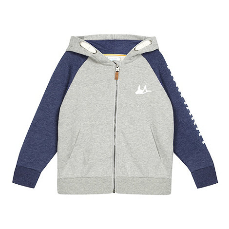 Mantaray - Boy+s grey zip through hoodie