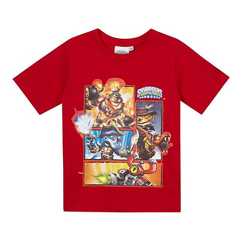Skylanders - Boy+s red +Skylanders+ t-shirt