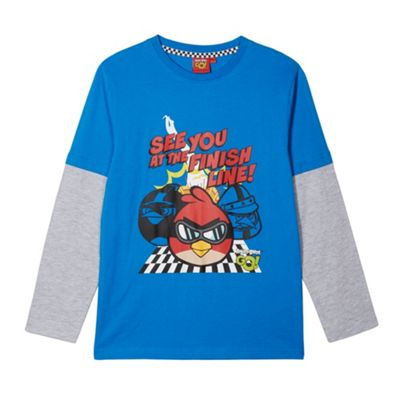 angry birds Boy´s blue ´Finish line´ t-shirt - . -