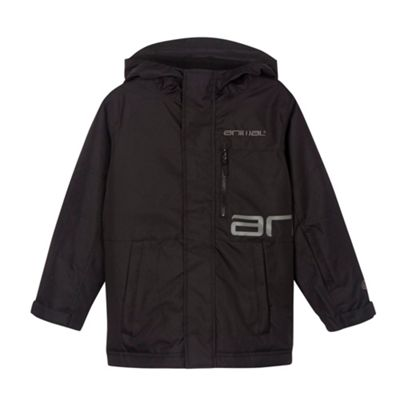 Animal Boy´s black insulated logo print ski jacket - . -