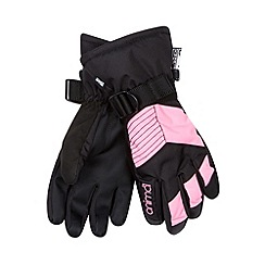 Animal - Girl's black panel ski gloves