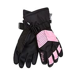 Animal - Girl's black panel ski gloves