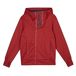 Bench - Boy's red double zip logo hoodie