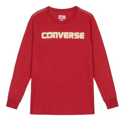 Boy´s red long sleeved ´Converse´ top - . -