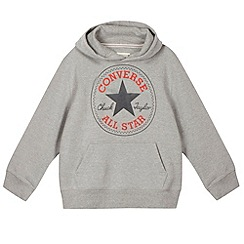 Converse - Boy's grey 'Chuck Taylor' patch sweat hoodie