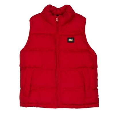 Caterpillar Boy´s red padded gilet - . -