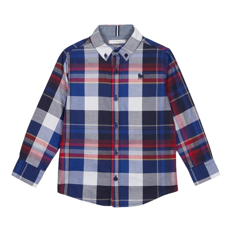J BY JASPER CONRAN | J by Jasper Conran - Boys' Multicoloured Checked Long Sleeve Cotton Shirt | Goxip