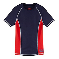 bluezoo - Boy's navy rash vest