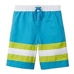bluezoo - Boy's blue cut and sew striped shorts