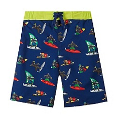 bluezoo - Boy's navy surf monkey swim shorts