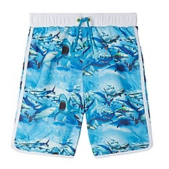 bluezoo - Boy's blue shark swim shorts