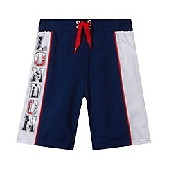bluezoo - Boy's navy 'London' swim shorts