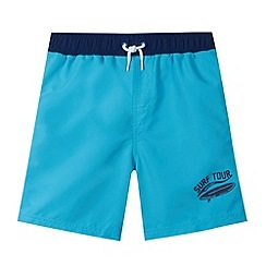bluezoo - Boy's blue 'Surf Tour' swim shorts