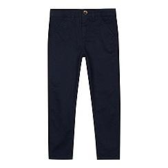 bluezoo - Boy's navy twin tipped polo shirt