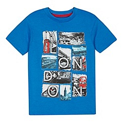 bluezoo - Boy's blue London scene printed t-shirt