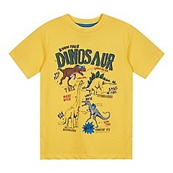 bluezoo - Boy's yellow dinosaur t-shirt