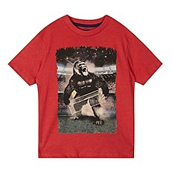 bluezoo - Boy's red football gorilla t-shirt