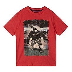 bluezoo - Boy's red football gorilla t-shirt