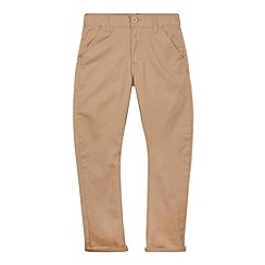 bluezoo - Boy's tan fitted waist chinos