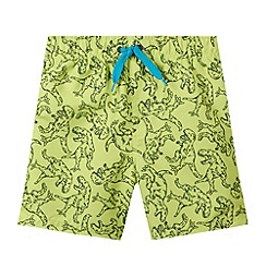 bluezoo - Boy's lime dino swim shorts