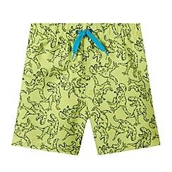 bluezoo - Boy's lime dino swim shorts