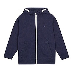 bluezoo - Boy's navy zip through hoodie