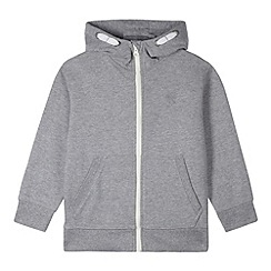 bluezoo - Boy's grey zip through sweat hoodie