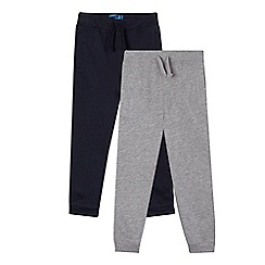 bluezoo - Boys' set of two navy and grey jogging bottoms