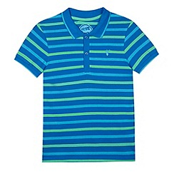 bluezoo - Boy's blue striped polo