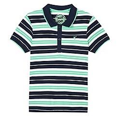 bluezoo - Boy's green striped polo shirt