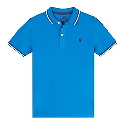 bluezoo - Boy's mid blue tipped polo shirt