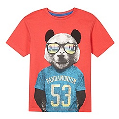 bluezoo - Boy's red panda t-shirt