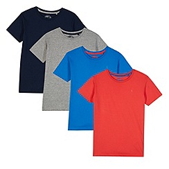 bluezoo - Pack of four boy's navy plain t-shirts