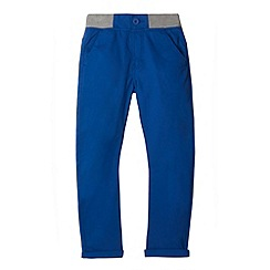 bluezoo - Boy's blue rib waist carrot chinos