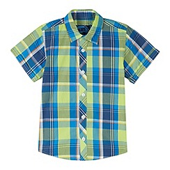 bluezoo - Boy's green checked shirt
