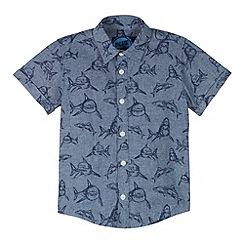 bluezoo - Boy's blue shark shirt