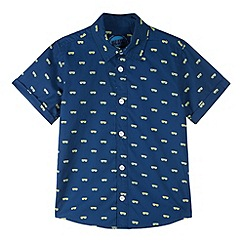 bluezoo - Boy's navy sunglasses shirt