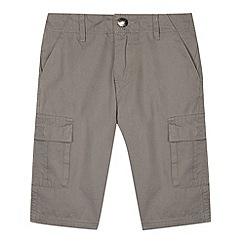 bluezoo - Boy's dark grey cargo shorts