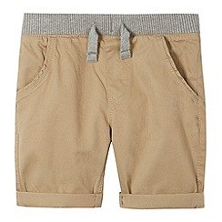 bluezoo - Boy's beige ribbed waist shorts