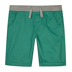 bluezoo - Boy's green ribbed waist shorts