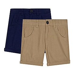 bluezoo - Pack of two boy's linen shorts