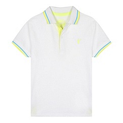 bluezoo - Boy's white twin tipped pique polo shirt