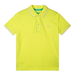 bluezoo - Boy's lime pique polo shirt