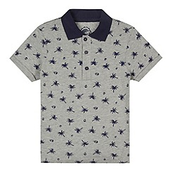 bluezoo - Boy's grey palm tree print polo shirt