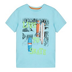 bluezoo - Boy's light blue 'Live to Skate' t-shirt