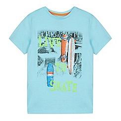 bluezoo - Boy's light blue 'Live to Skate' t-shirt