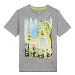 bluezoo - Boy's grey LA scene t-shirt