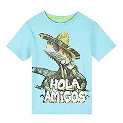 bluezoo - Boy's light blue 'Hola' gecko t-shirt