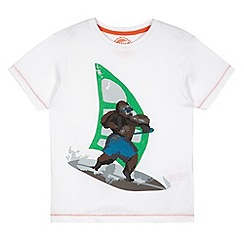 bluezoo - Boy's white windsurfing gorilla t-shirt