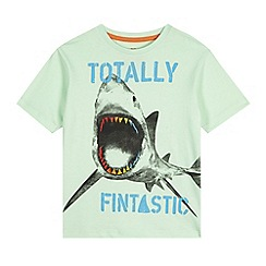 bluezoo - Boy's green shark print t-shirt